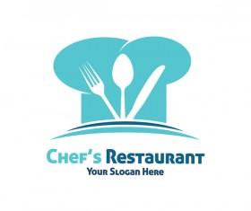 chef restaurant logo design vector