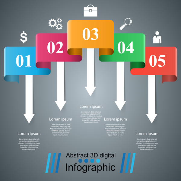color infographic vector 01