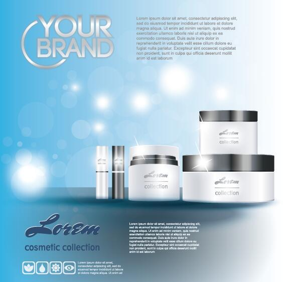 cosmetic poster template design vector 03