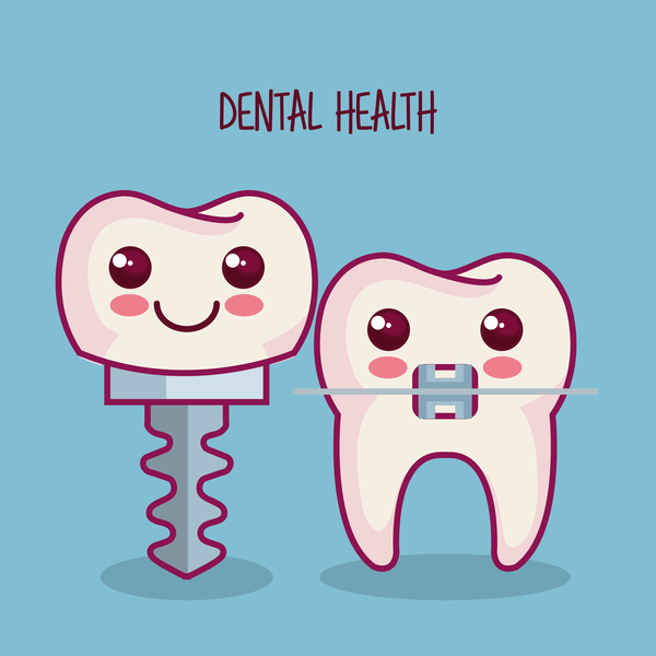 dental health cartoon vector 01