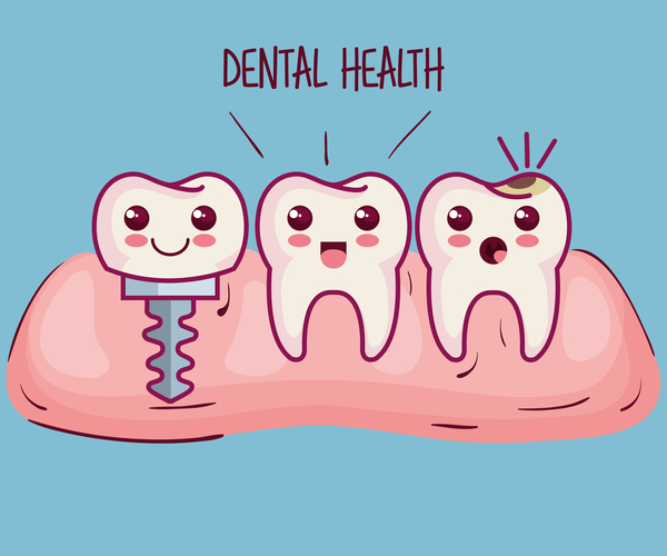 dental health cartoon vector 03