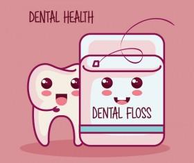 dental health cartoon vector 04