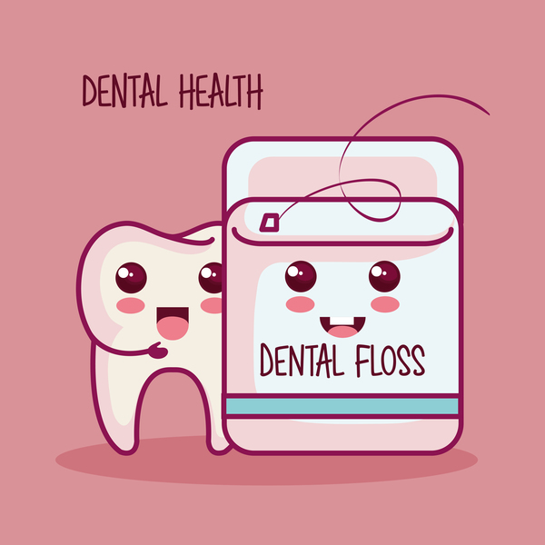 dental health cartoon vector 04