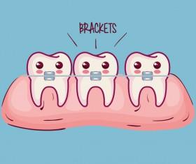 dental health cartoon vector 05