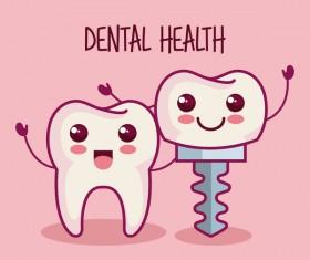 dental health cartoon vector 06