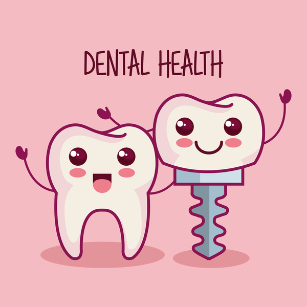 dental health cartoon vector 06