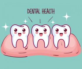 dental health cartoon vector 07