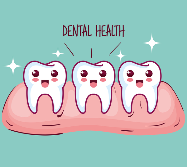 dental health cartoon vector 07