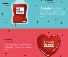 donate blood infogurphic vectors 04