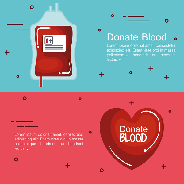 donate blood infogurphic vectors 04