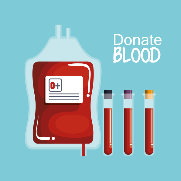 donate blood infogurphic vectors 06