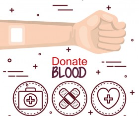 donate blood infogurphic vectors 07