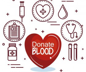 donate blood infogurphic vectors 09