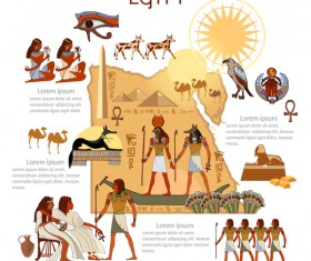 egypt travel with culture design vector