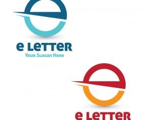 eletter logos design vector