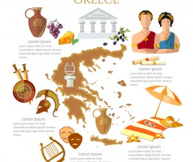 greece travel with culture design vector
