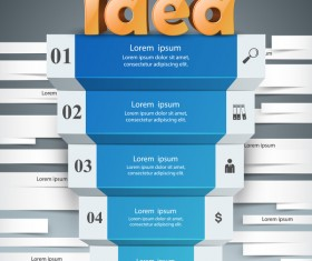 idea stair infographic vector
