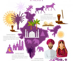 indians travel with culture design vector