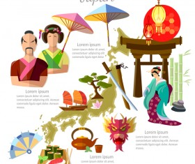 japan travel with culture design vector