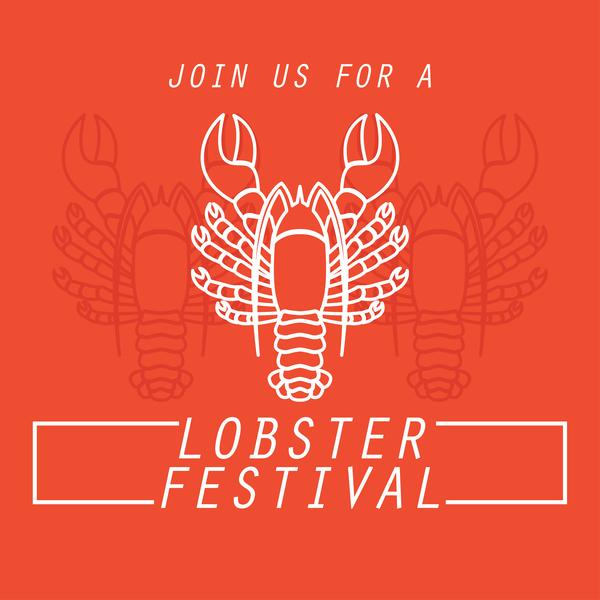 lobster frstivtal poster retro vectors 06