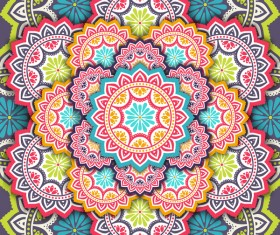 mandala pattern decor with orante background vector 02