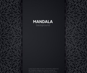 mandala pattern with black background vector 01