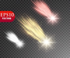 meteorite light effect illustration vector 01