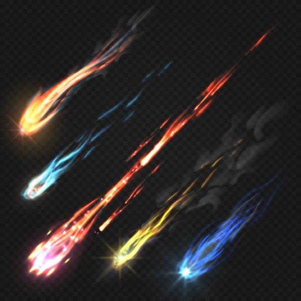 meteorite light effect illustration vector 02