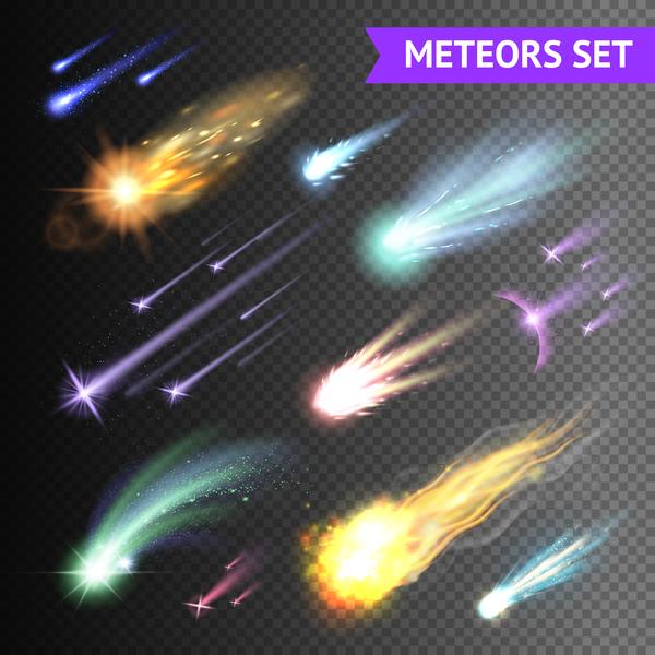 meteorite light effect illustration vector 03