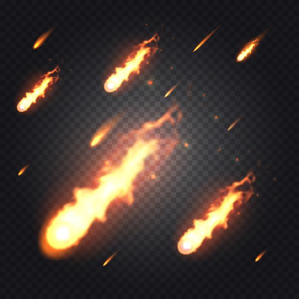 meteorite light effect illustration vector 04
