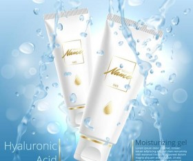 moisturizing gel cosmetic poster vector 01