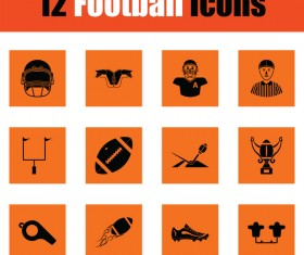 orange football icons vector