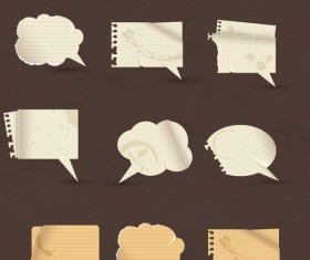 paper speech bubbles vectors
