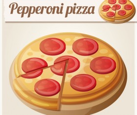 pepperoni pizza vector material