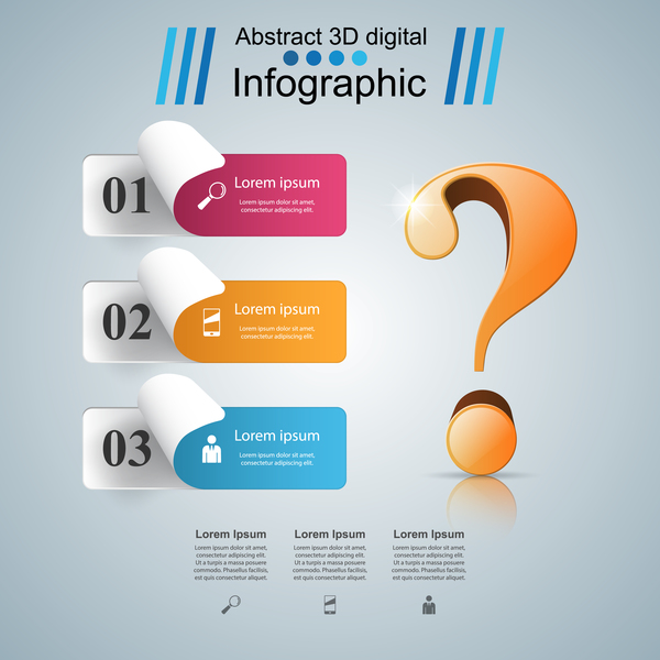 question paper three infographic vector
