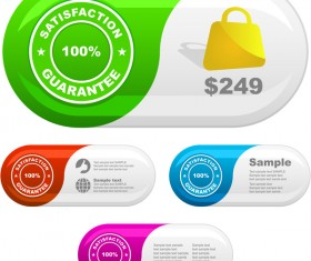 satisfaction guarantee business banners vector