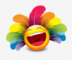 smiley laugh feathers icon 01