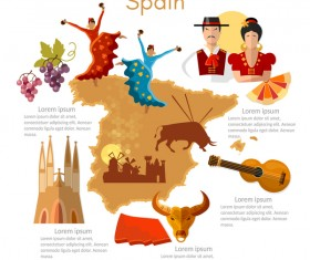spain travel with culture design vector