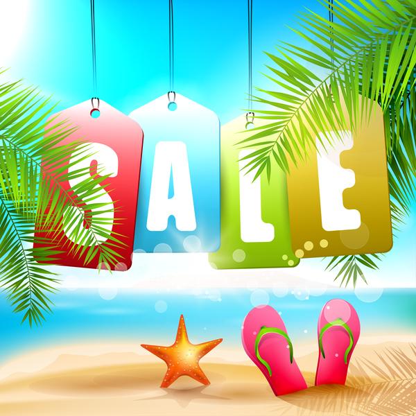 summer beach nobody sale background vector