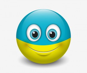 ukraine smiley icon