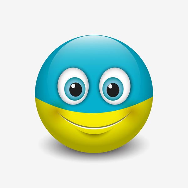 ukraine smiley icon