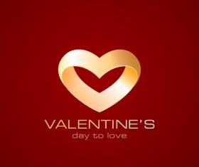 valentine logo design vector