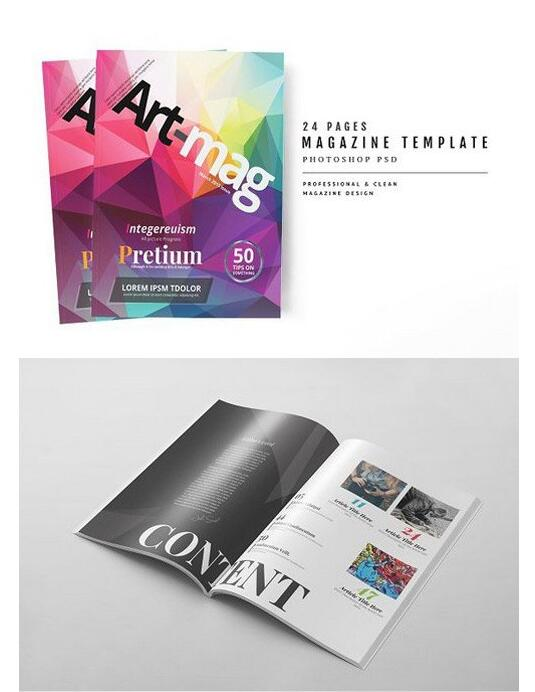 15 Page magazine Psd template