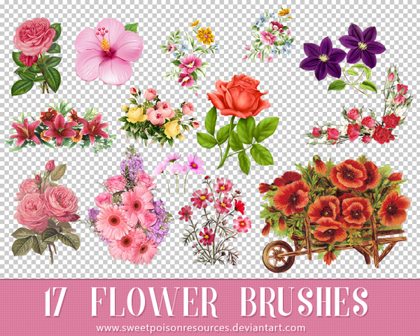 17 Flower Photoshop Brush free download