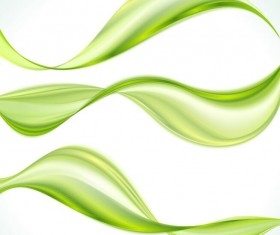 3 Green wavy abstract backgrounds vector