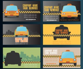 6 Kind taxi business card vector template
