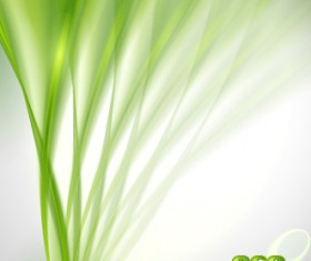 Abstract green transparent background vector