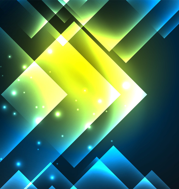 Abstract neon background with shining light vector 01