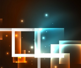 Abstract neon background with shining light vector 02