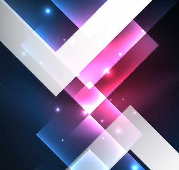 Abstract neon background with shining light vector 03